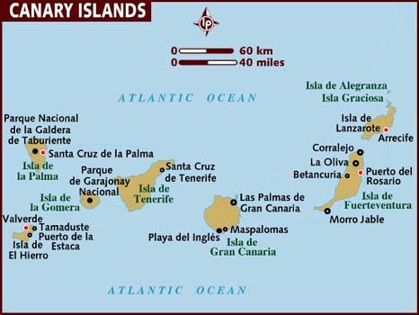 Spanien Lanzarote Karta.Spanienguiden Spanienkarta Spanienguiden